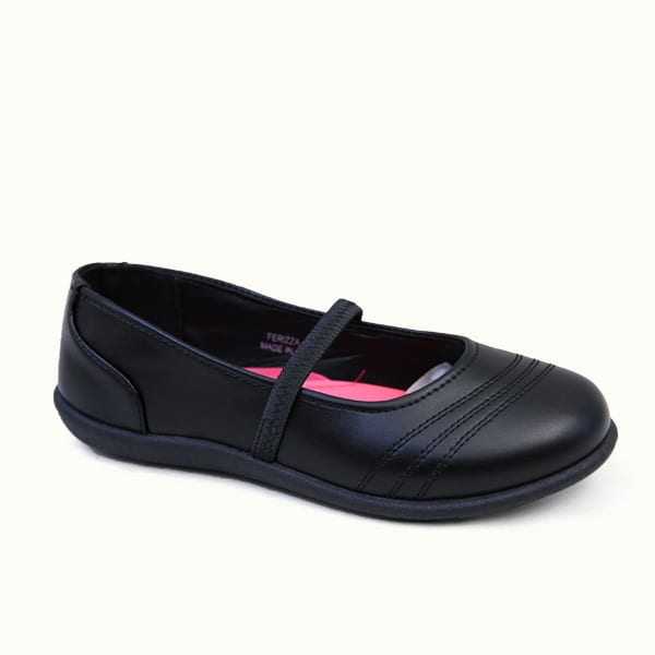 kingbo KB-ICLK01 Kids genuine leather school children shoes fashion girls school shoes black
