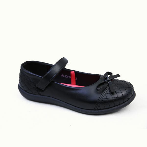 kingbo KB-ICLK02 Kids genuine leather school children shoes fashion girls school shoes black