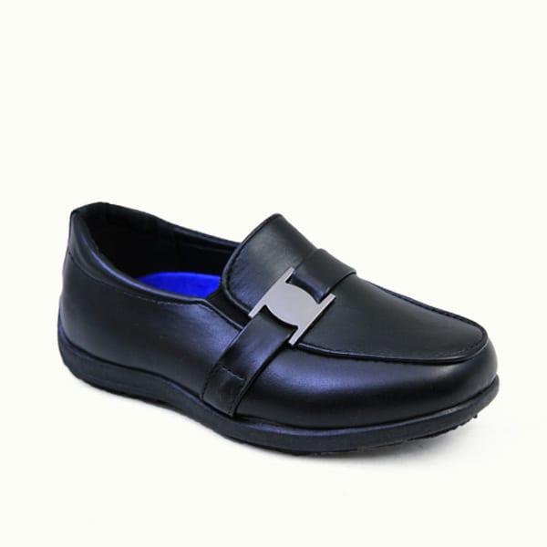 kingbo KB-ICMK02 Kids genuine leather school children shoes fashion boys school shoes black