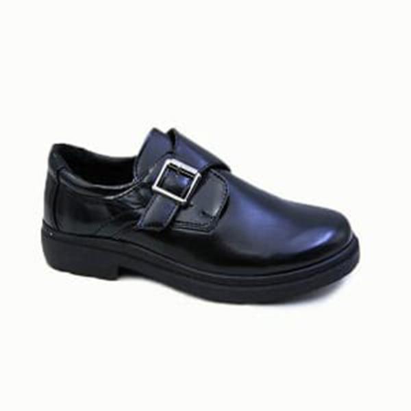 kingbo KB-ICMK03 Kids genuine leather school children shoes fashion boys school shoes black