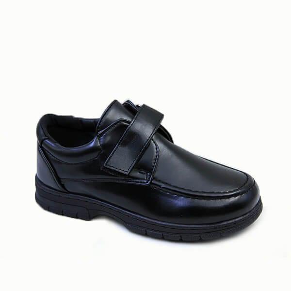 kingbo KB-ICMK04 Kids genuine leather school children shoes fashion boys school shoes black