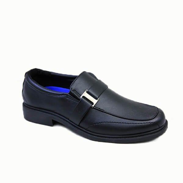 kingbo KB-ICMK05 Kids genuine leather school children shoes fashion boys school shoes black